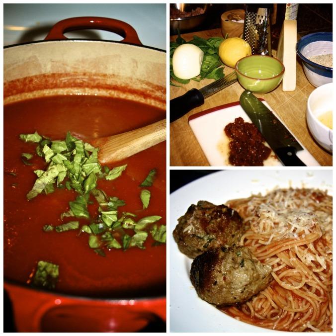 Florentine Meatballs & Homemade Spaghetti Sauce